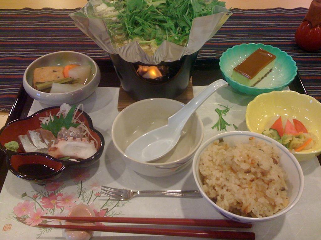 北陸正心館の夕食